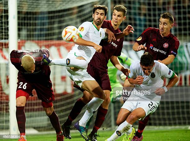 Tarantini of Rio Ave FC in action during the UEFA Europa Liga match between AaB Aalborg and Rio Ave FC at Nordjyske Arena on Oktober 02 2014 in...