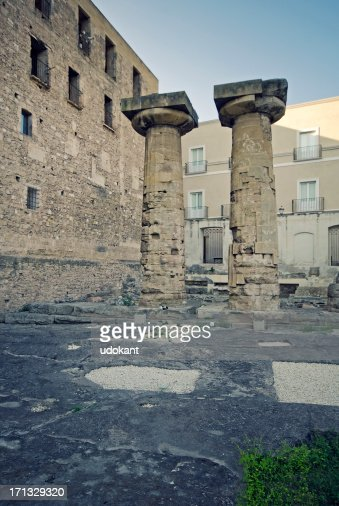 Taranto, two greek columns