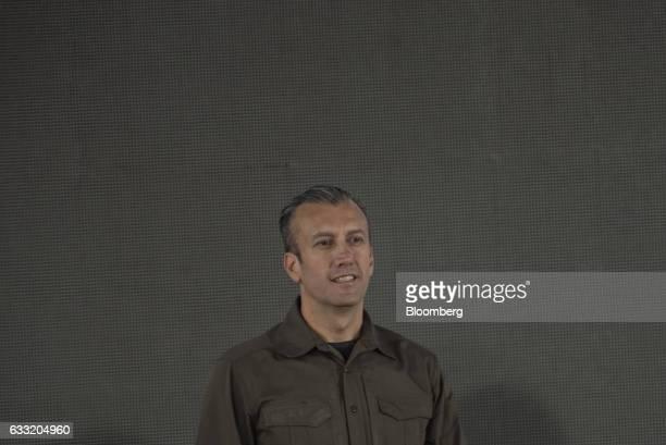 Tareck El Aissami vice president of Venezuela attends a swearing in ceremony for the new board of directors of Petroleos de Venezuela SA Venezuela's...