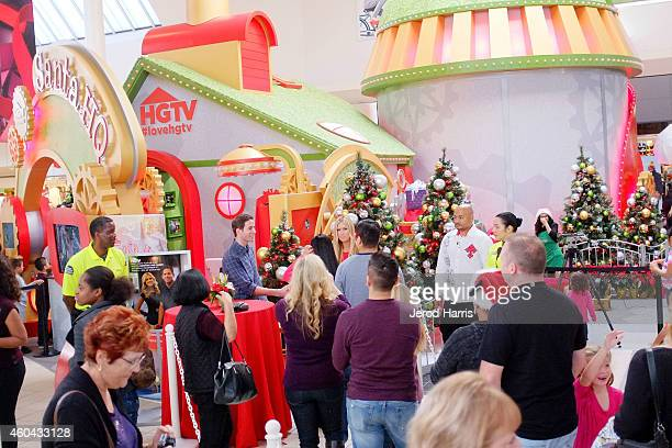 Tarek and Christina El Moussa hosts of HGTV's hit show Flip or Flop visited the HGTV Santa HQ at Lakewood Center The reality stars visited with Santa...