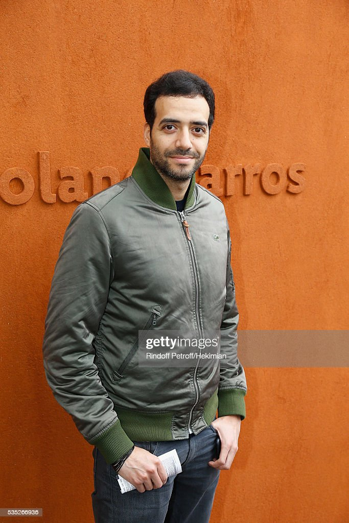 Tarek Boudali attends the French Tennis Open Day 8 at Roland Garros on May 29, 2016 in Paris, France.