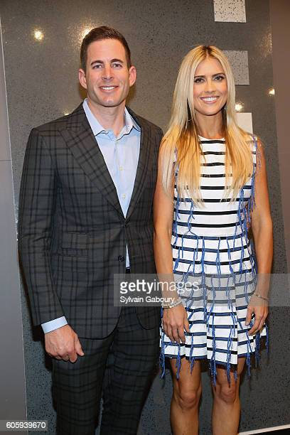 Tarek El Moussa and Christina El Moussa attend Tarek and Christina TV's Favorite House Flippers Featured at TREND/Stone Source Event in New York on...