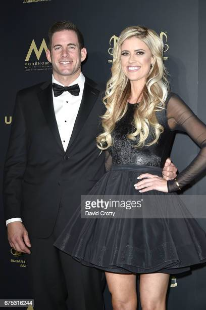 Tarek El Moussa and Christina El Moussa attend the 44th Annual Daytime Emmy Awards Press Room at Pasadena Civic Auditorium on April 30 2017 in...