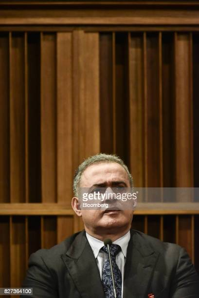 TarekWilliam Saab Venezuela's chief prosecutor listens during a press conference in Caracas Venezuela on Monday Aug 7 2017 The assembly elected in...