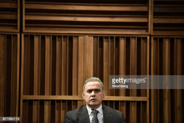TarekWilliam Saab Venezuela's chief prosecutor pauses while speaking during a press conference in Caracas Venezuela on Monday Aug 7 2017 The...