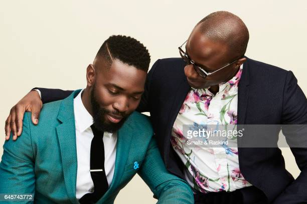 Tarell Alvin McCraney and Barry Jenkins poses for a portrait session at the 2017 Film Independent Spirit Awards on February 25 2017 in Santa Monica...