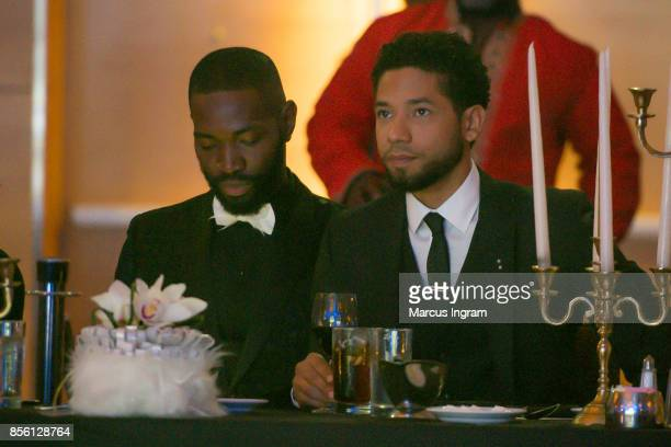 Tarell McCraney and actor Jussie Smollett attend The 6th Annual Gentlemen's Ball at Atlanta Marriott Marquis on September 30 2017 in Atlanta Georgia