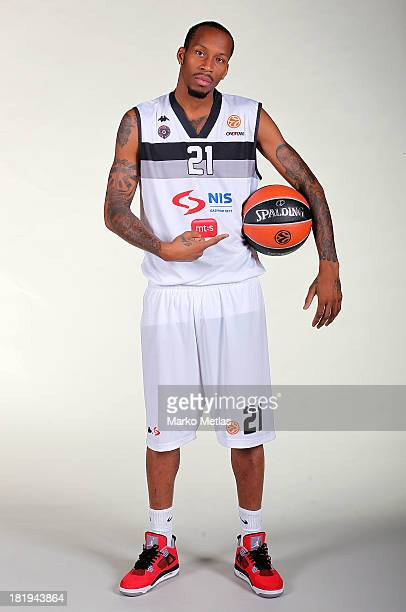 Tarence Kinsey of Partizan NIS Belgrade during the Partizan NIS Belgrad 2013/14 Turkish Airlines Euroleague Basketball Media Day session at Pionir on...