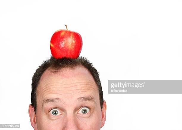 Target Apple auf Mann's Head