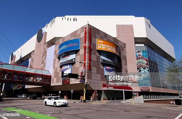 Target Center home of the Minnesota Timberwolves basketball team and Minnesota Lynx WNBA basketball team on May 22 2015 in Minneapolis Minnesota