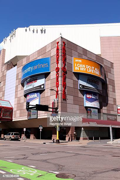 Target Center home of the Minnesota Timberwolves basketball team and Minnesota Lynx WNBA basketball team on May 22 2015 in Minneapolis Minnesota