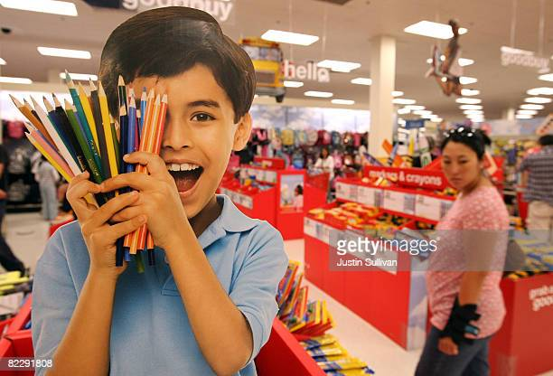 Target customer shops for back to school supplies at a Target store August 13 2008 in Daly City California With stores gearing up for back to school...