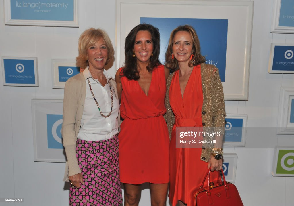 Target maternity wear designer Liz Lange (C) and guests attend Liz Lange for Target 10th Anniversary Party at The Glasshouses on May 16, 2012 in New York City.