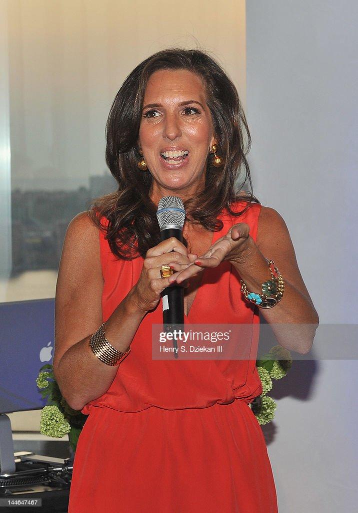 Target maternity wear designer Liz Lange speaks at Liz Lange for Target 10th Anniversary Party at The Glasshouses on May 16, 2012 in New York City.