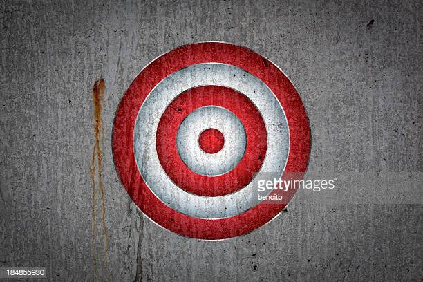 Target on cement wall