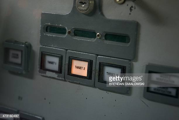 A target selector is seen at the commander's console inside a Titan II silo's control center at the Titan Missile Museum on May 12 2015 in Green...