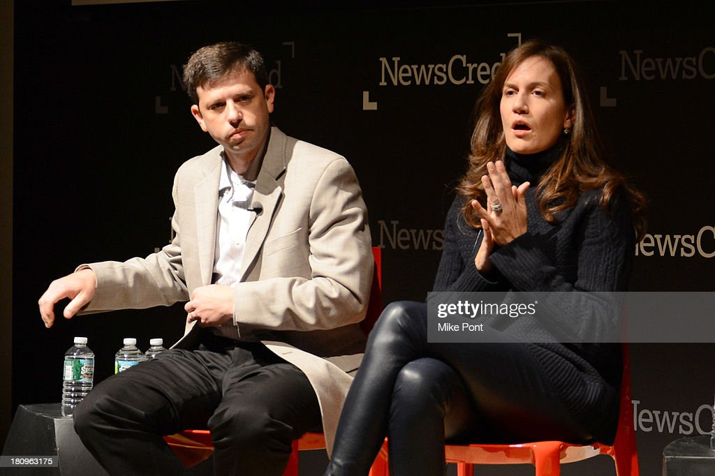 Target spokesperson Eric Hausman and Barneys COO Danielle Vitale participate in a panel discussion at the NewsCred Content Marketing Summit 2013 at The New Museum on September 18, 2013 in New York City.