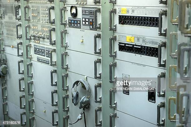 Targeting and control electronics are seen inside a Titan II silo's control center at the Titan Missile Museum on May 12 2015 in Green Valley Arizona...
