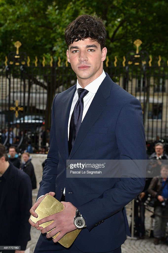 Tarik Lakehal attends the Versace show as part of Paris Fashion Week - Haute Couture Fall/Winter 2014-2015 on July 6, 2014 in Paris, France.