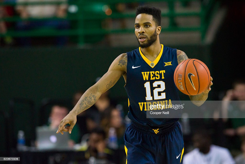 Tarik Phillip of the West Virginia Mountaineers brings the ball up court against the Baylor Bears on March 5 2016 at the Ferrell Center in Waco Texas