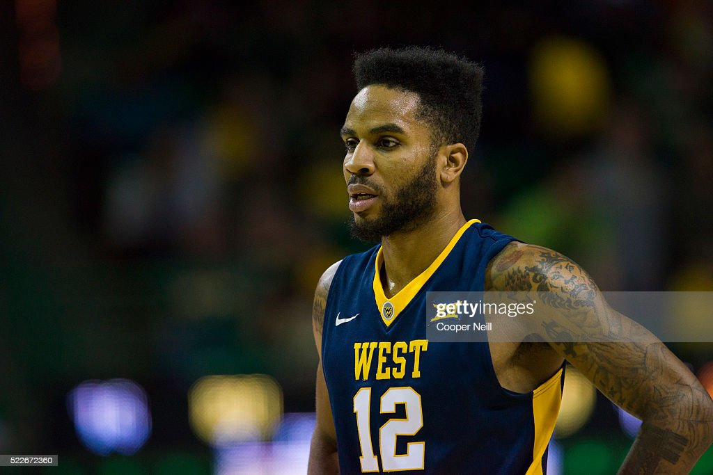 Tarik Phillip of the West Virginia Mountaineers looks on against the Baylor Bears on March 5 2016 at the Ferrell Center in Waco Texas