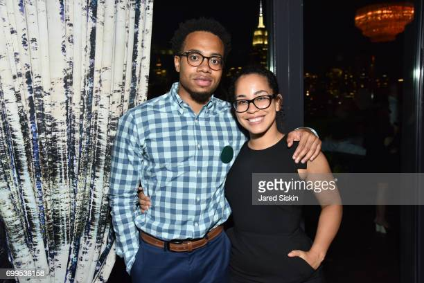 Tarik Watts and Liz Castro attend The Junior Board of The TEAK Fellowship Presents A Midsummer Night at PhD Lounge at the Dream Downtown New York on...