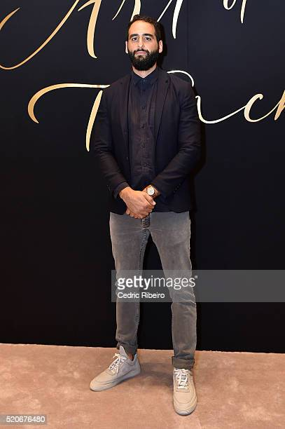 'DUBAI UNITED ARAB EMIRATES APRIL 12 Tarik Zaharna at the Burberry Art of the Trench Middle East event at Mall of the Emirates on April 12 2016 in...