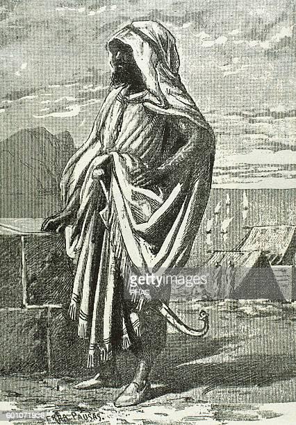 Tariq ibn Ziyad Muslim General of the Berber tribe of Nafza who led the Muslim conquest of the Visigothic Hispania Engraving