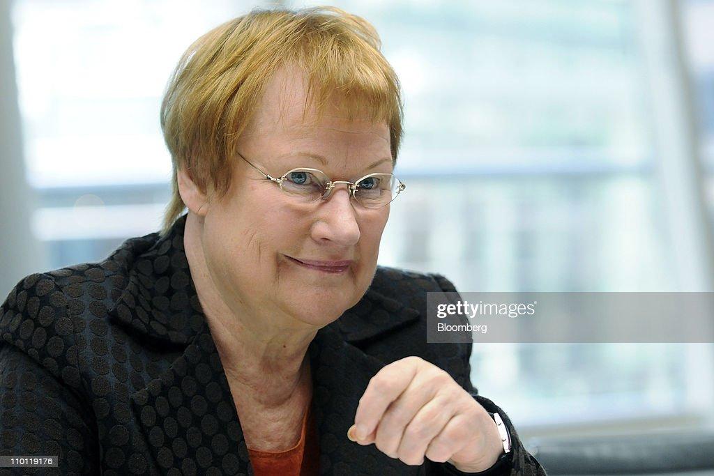 Finnish President Tarja Halonen Interview
