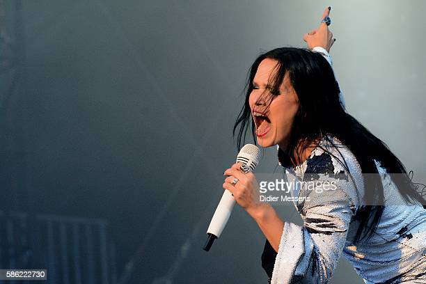 Tarja Turunen performs on stage during the third day of the Wacken Open Air festival on August 6 2016 in Wacken Germany