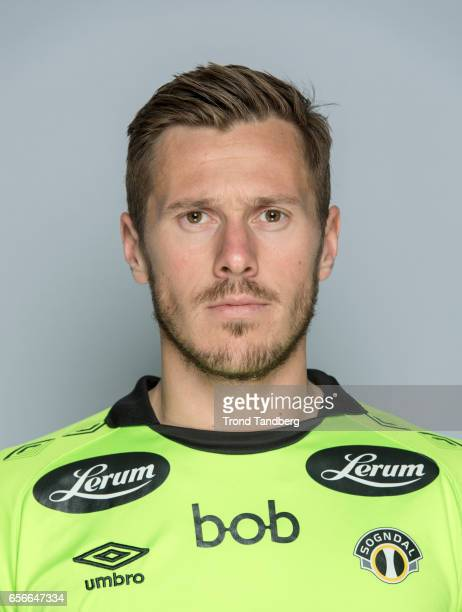 Tarjei Aase Omenaas of Team Sogndal Fotball during Photocall on March 22 2017 in Sogndal Norway