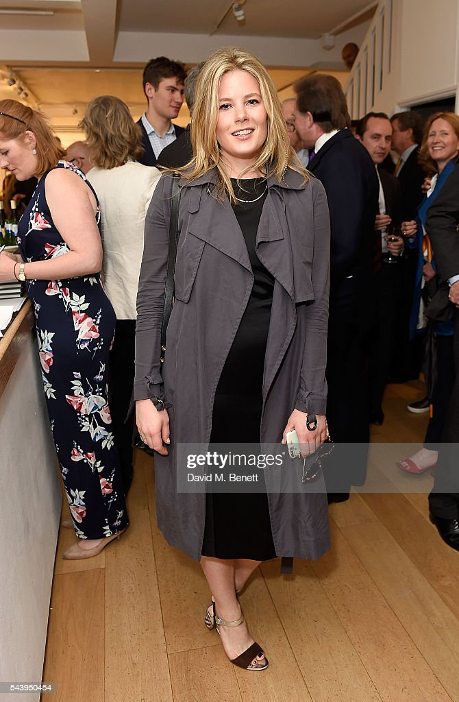 Tarka Russell attends the exhibition launch party of 'The Zero Hour Panoramas' by Jolyon Fenwick. The exhibition consists of 14 photographic panoramas showcasing, '100 Years on: Views From The Parapet of the Somme', at Sladmore Contemporary on June 30, 2016 in London, England.
