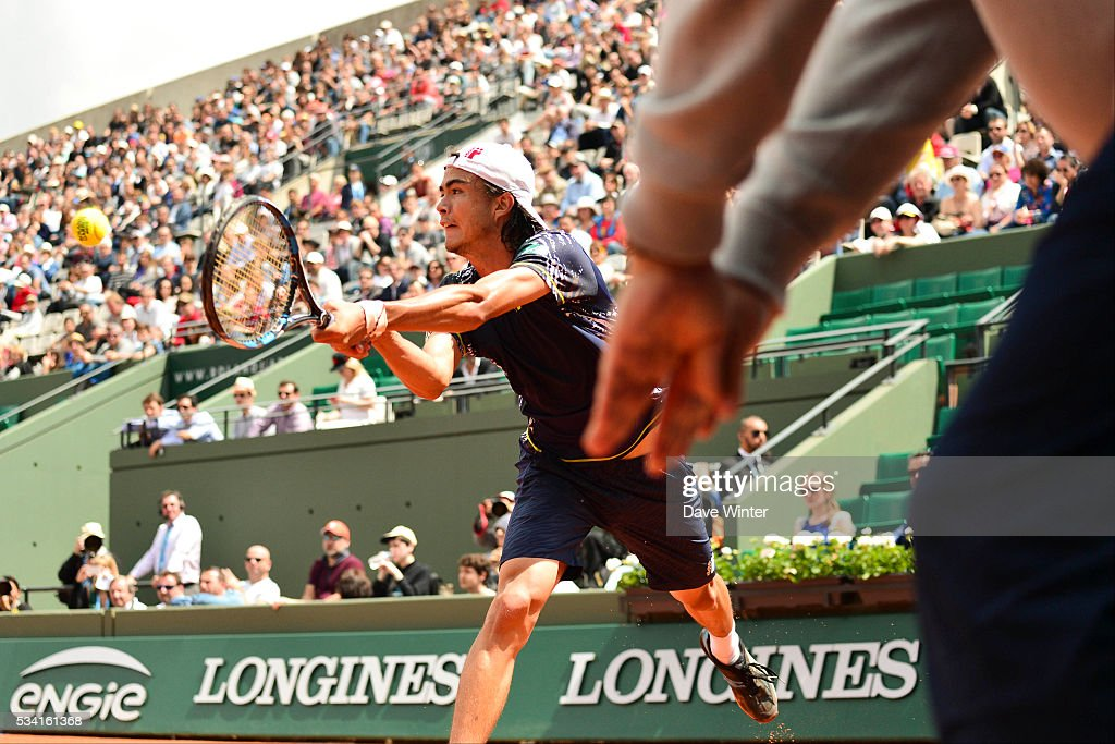 Taro Daniel during the Men's Singles second round on day four of the French Open 2016 at Roland Garros on May 25, 2016 in Paris, France.