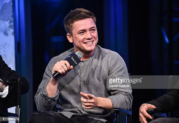 Taron Egerton attends AOL Build to discuss 'Eddie the Eagle' at AOL Studios on February 23 2016 in New York City