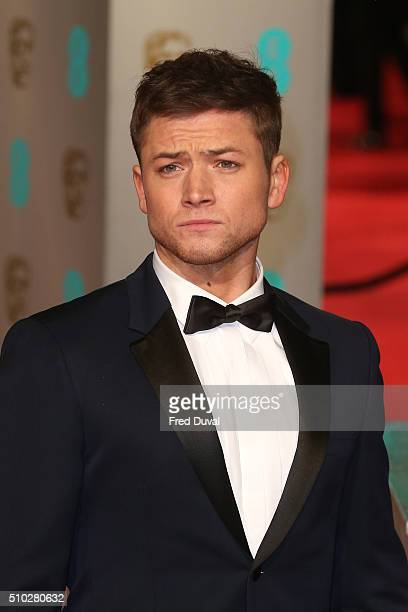 Taron Egerton attends the EE British Academy Film Awards at The Royal Opera House on February 14 2016 in London England