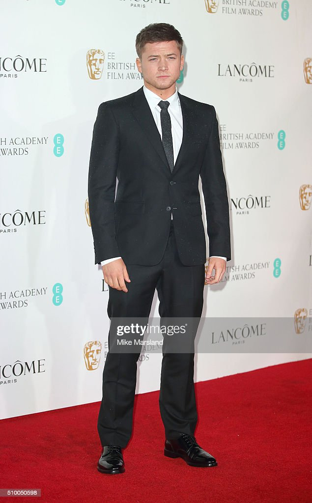 <a gi-track='captionPersonalityLinkClicked' href=/galleries/search?phrase=Taron+Egerton&family=editorial&specificpeople=13418374 ng-click='$event.stopPropagation()'>Taron Egerton</a> attends the Lancome BAFTA nominees party at Kensington Palace on February 13, 2016 in London, England.