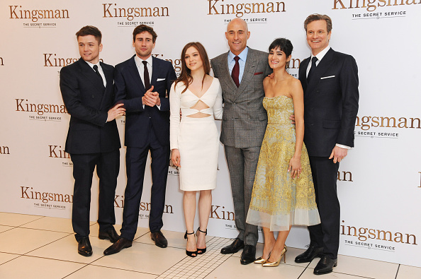 Taron Egerton And Sophie Cookson Interview For Kingsman: Edward Holcroft Stock Photos And Pictures