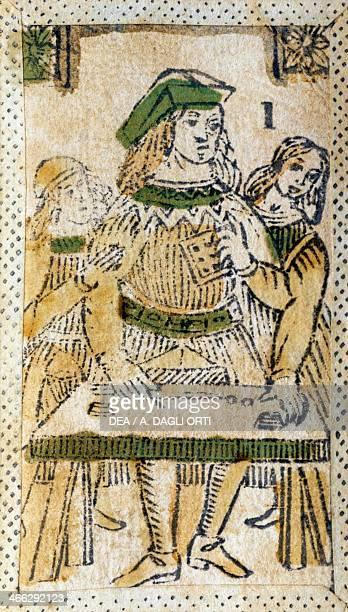 Tarot card depicting the Magician Italy 16th century