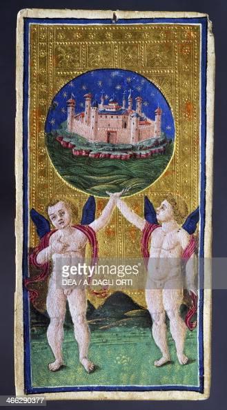 Tarot card depicting the World by Antonio Cicognara Italy 15th century