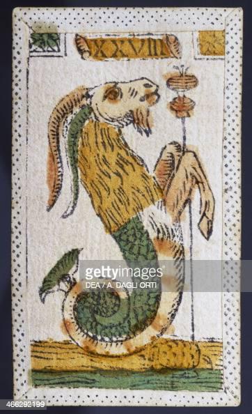 Tarot card for Capricorn Italy 16th century