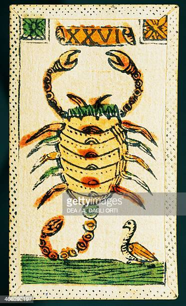 Tarot card for Scorpio Italy 16th century