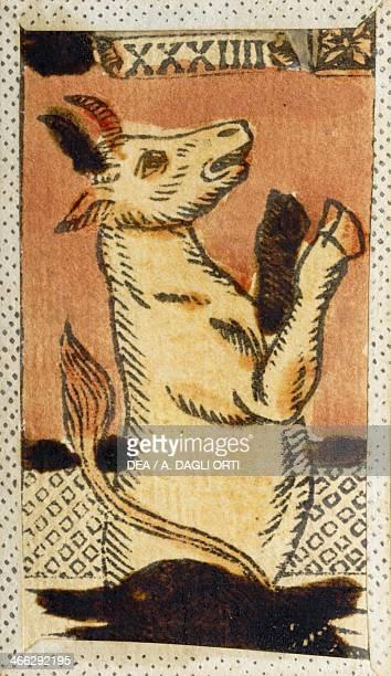 Tarot card for Taurus Italy 16th century