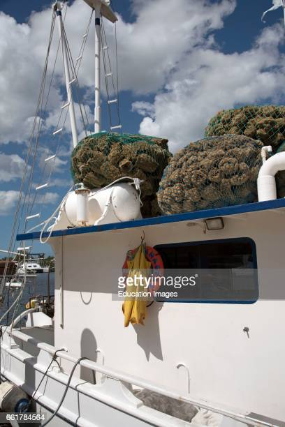 Tarpon Springs Florida USA A 'spongers' boat used for diving for sponges