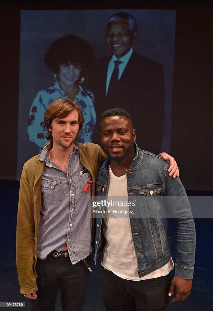Tarquin Wilding, grandson of Elizabeth Taylor, and Kweku Mandela, grandson of Nelson Mandela attend the special event held at UCLA to commemorate World AIDS Day on December 1, 2015 in Los Angeles, CA.