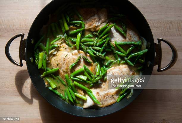 Tarragon Chicken with Asparagus is photographed for the Nourish column Tuesday January 28 2014 in Vienna VA