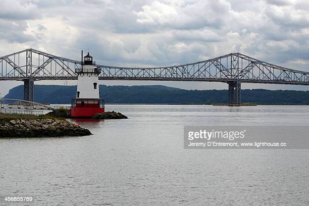 Tarrytown Lighthouse and the Tappan Zee Bridge, NY