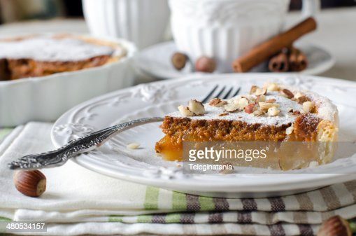 Tart with caramelized apples : Stock Photo