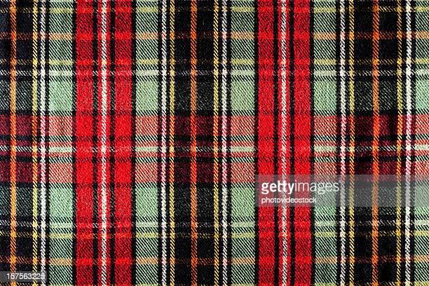 Fond à motif écossais Tartan