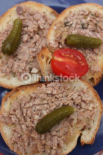 Tartine Brot Mit Schweinefleischterrine Stock-Foto ...  Tartine Brot Mi...