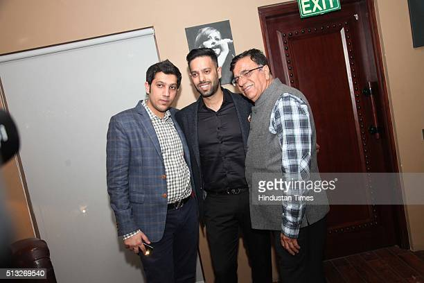 Tarun Arora and Vijay Kr Arora during a launch of a new lounge and bistro titled Niche by restaurateur Tarun Arora and fashion designer Siddhartha...